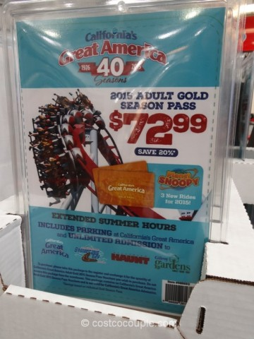Great America 2015 Gold Season Pass Costco 2