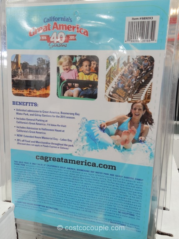 Great America 2015 Gold Season Pass Costco 3