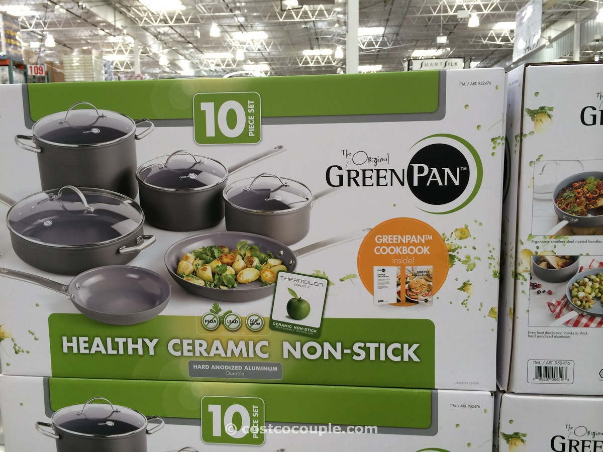 GreenPan 10-piece Ceramic Non-Stick Cookware Set Costco 2