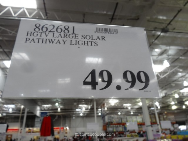 HGTV Large 8 Lumen Solar Pathway Lights Costco 1