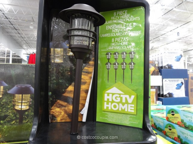 HGTV Large 8 Lumen Solar Pathway Lights Costco 2