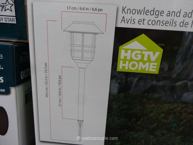 HGTV Large 8 Lumen Solar Pathway Lights Costco 6