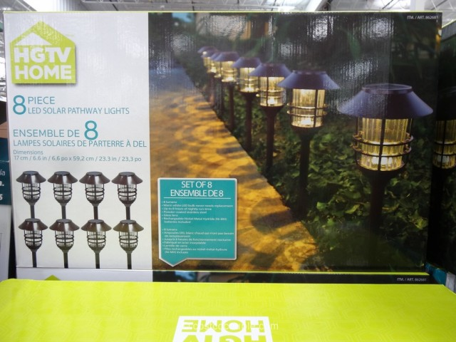 HGTV Large 8 Lumen Solar Pathway Lights Costco 7