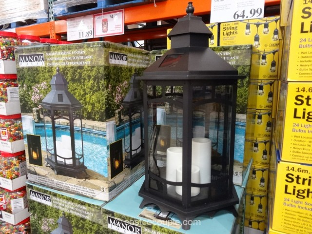 Manor House Solar Flickering Lantern