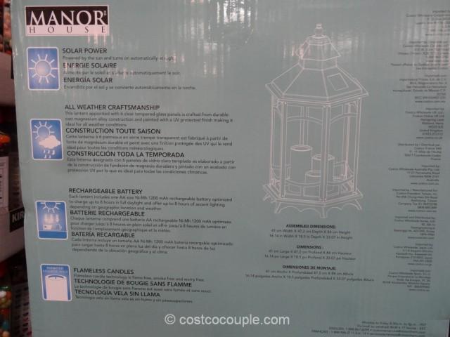 Manor House Solar Flickering Lantern Costco 4