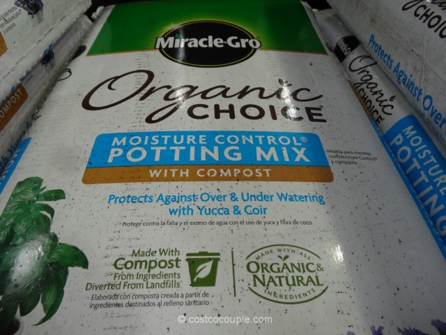 Miracle Gro Organic Moisture Control Potting Mix Costco 3