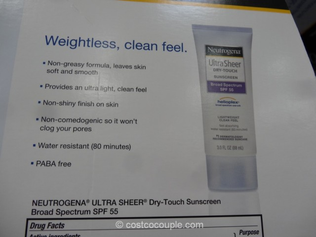 Neutrogena Ultra Sheer Touch Sunscreen Set Costco 4