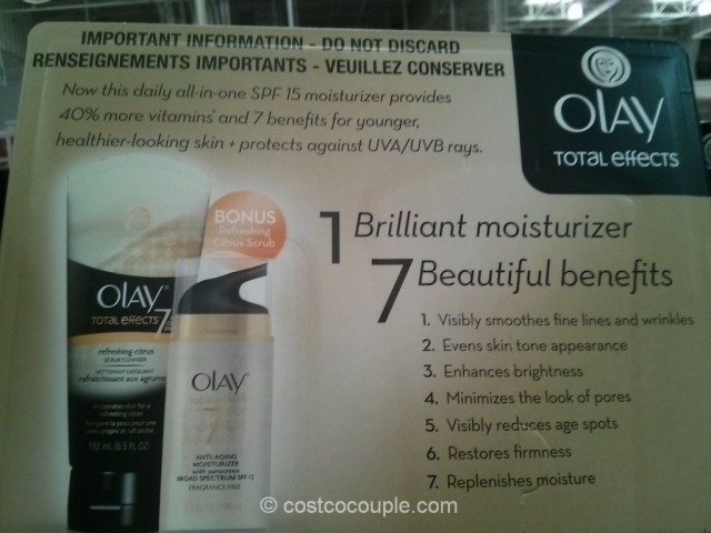 Olay Total Effects With Bonus Cleanser Costco 4