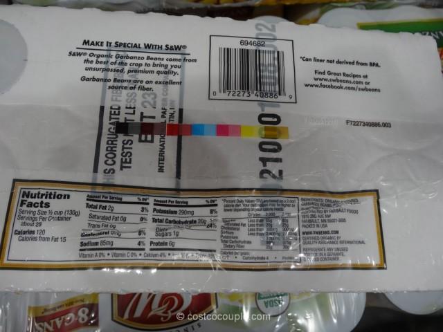 S & W Organic Garbanzo Beans Costco 3