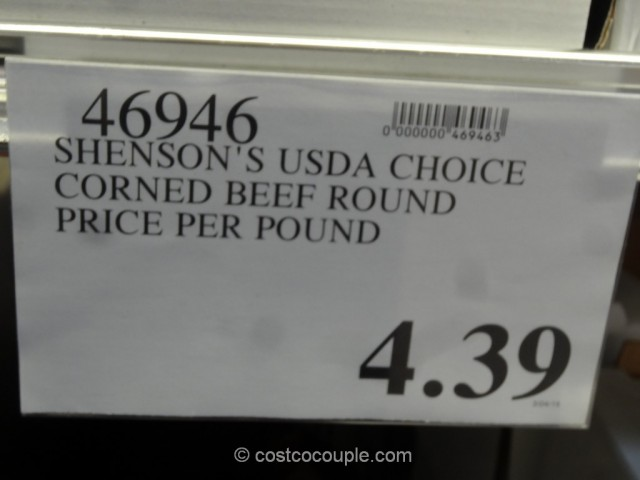 Shenson Corned Beef Round Costco 1