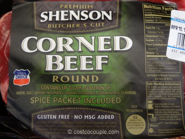 Shenson Corned Beef Round Costco 4