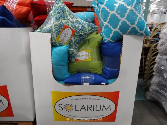 Solarium Indoor Outdoor 2-Pack Decorative Pillow Set Costco 2