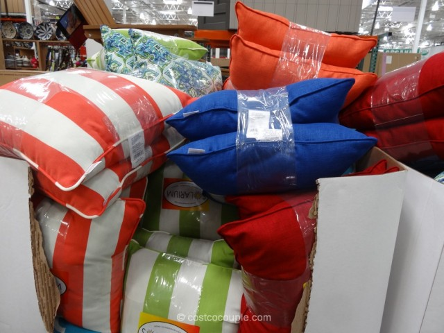 Solarium Indoor Outdoor 2-Pack Decorative Pillow Set Costco 4