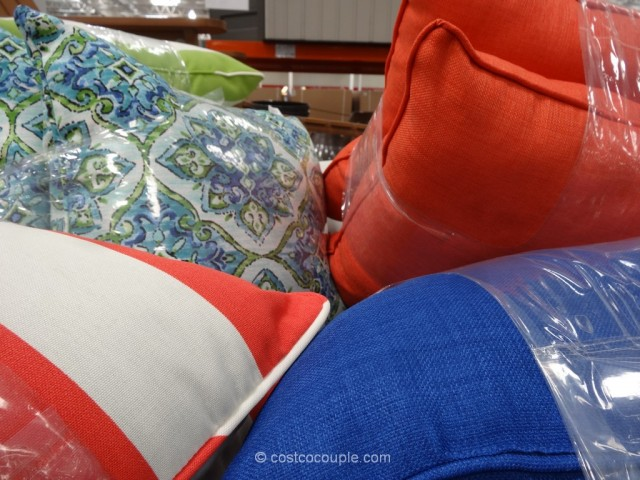 Solarium Indoor Outdoor 2-Pack Decorative Pillow Set Costco 5