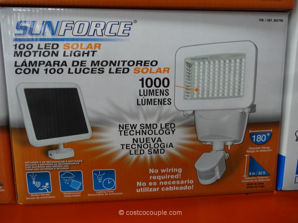 Sunforce LED Solar Motion Security Light Costco 2