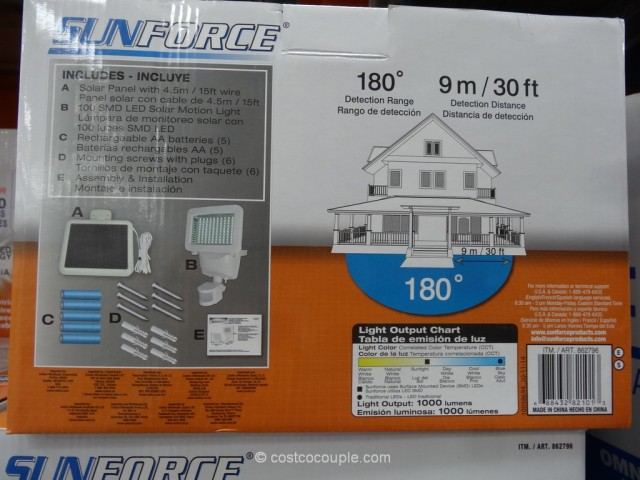 Sunforce LED Solar Motion Security Light Costco 4