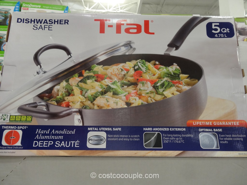 T-Fal 5-Qt Hard Anodized Deep Saute Pan Costco 2