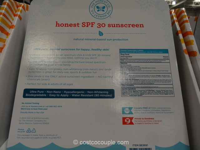 The Honest Company Honest SPF 30 Sunscreen Costco 4