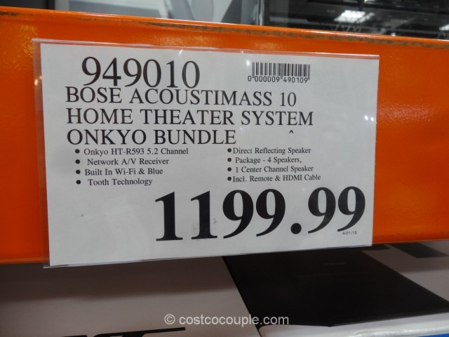 Bose Acoutimass 10 Home Theater System Costco 1