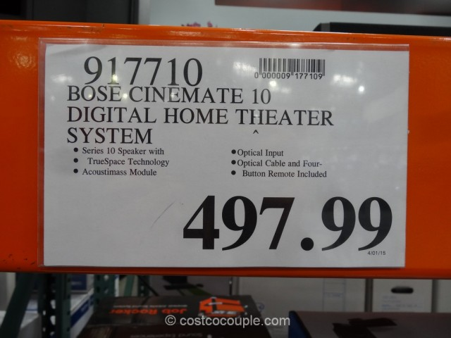 Bose Cinemate 10 Digital Home Theater System Costco 1