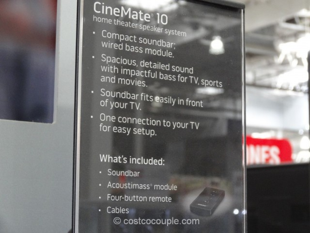 Bose Cinemate 10 Digital Home Theater System Costco 3