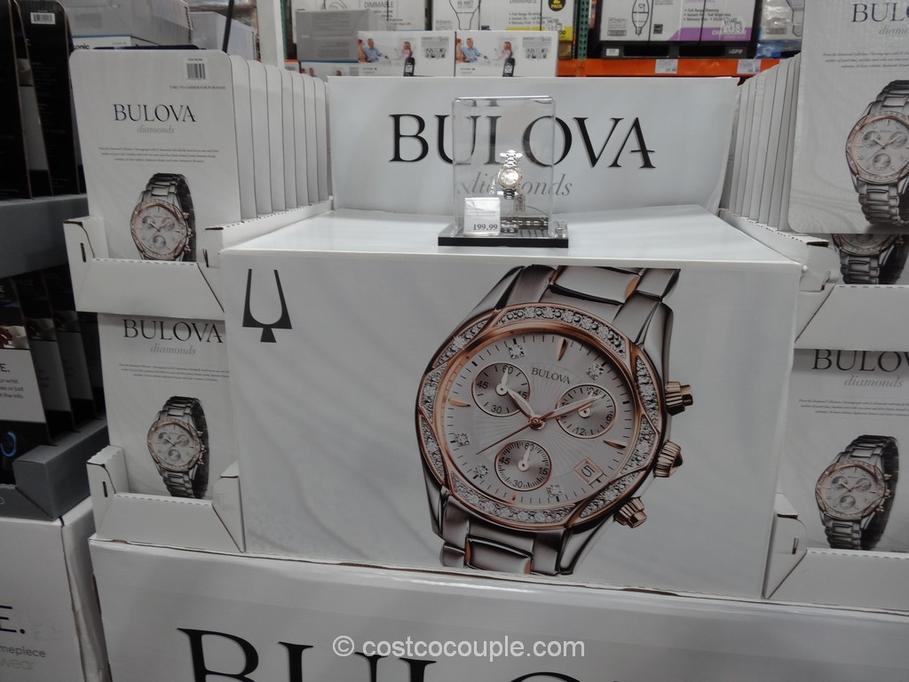 Bulova Diamond Ladies Chronograph Watch Costco 1