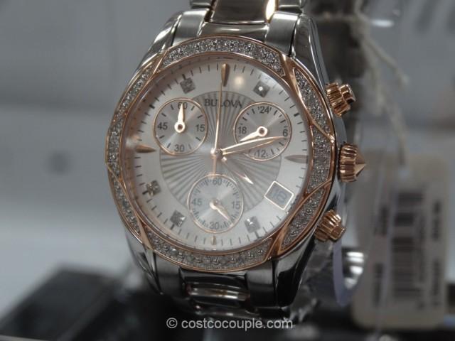 Bulova Diamond Ladies Chronograph Watch Costco 3