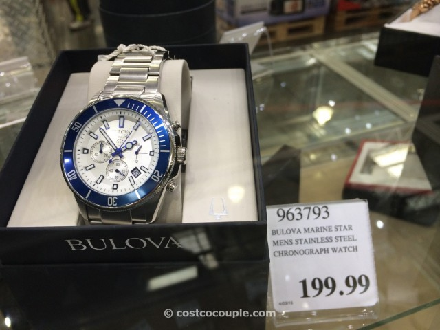 Bulova Marine Star Stainless Steel Chronograph Watch Costco 1