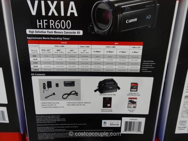 Canon Vixia HF R600 HD Camcorder Costco 4