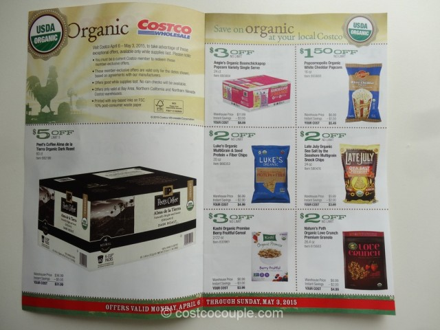 Costco April2015 Organic Instant Savings 2