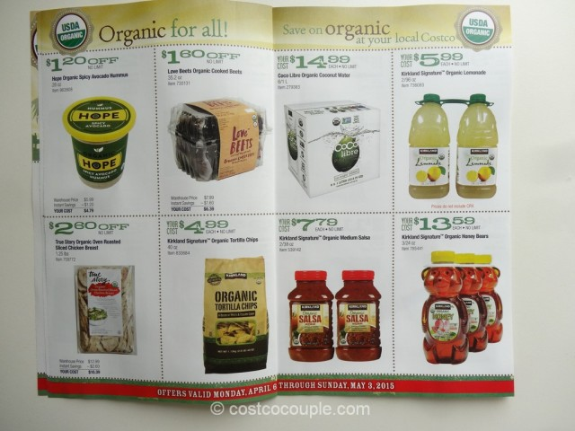 Costco April2015 Organic Instant Savings 4