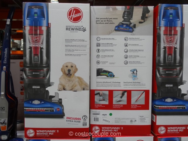 Hoover Windtunnel 2 Rewind Pet Bagless Vacuum Costco 1