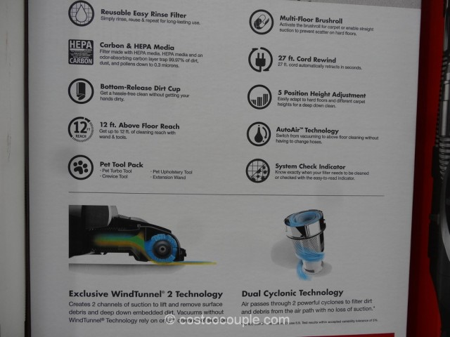 Hoover Windtunnel 2 Rewind Pet Bagless Vacuum Costco 3
