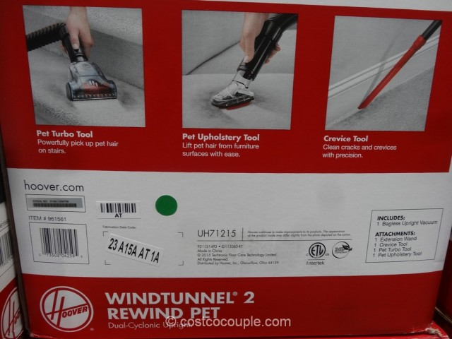 Hoover Windtunnel 2 Rewind Pet Bagless Vacuum Costco 6