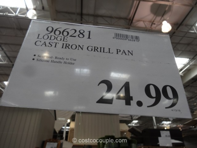 Lodge Cast Iron Grill Pan Costco 1