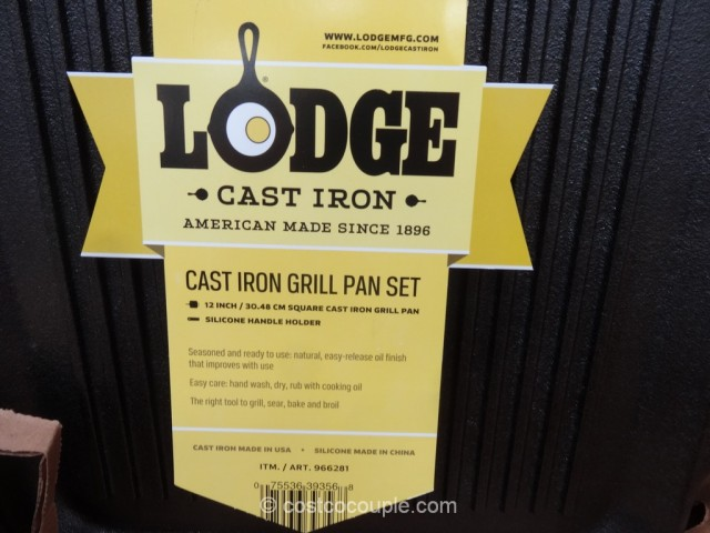 Lodge Cast Iron Grill Pan Costco 3