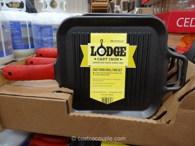 Lodge Cast Iron Grill Pan Costco 4