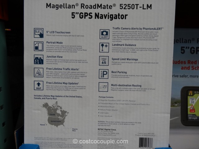 Magellan Roadmate 5250T-LM GPS Costco 4