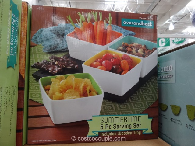Over and Back Summertime Serving Set Costco 2
