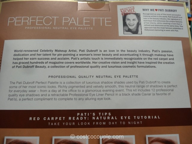 Pati Dubroff Perfect Palette Neutral Eyeshadow Set Costco 4