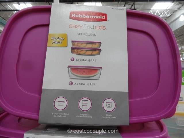 Rubbermaid 6-Piece Storage Set Costco 4