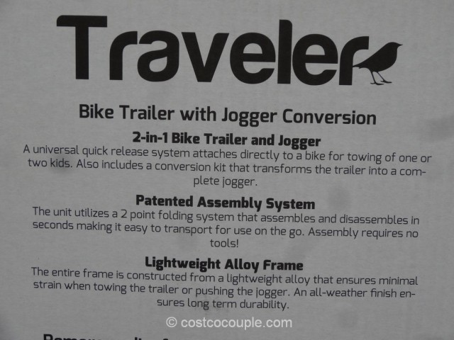 SMS Everyday Traveler Bike Trailer Kit Costco 4