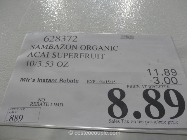 Sambazon Organic Acai Superfruit Costco 2