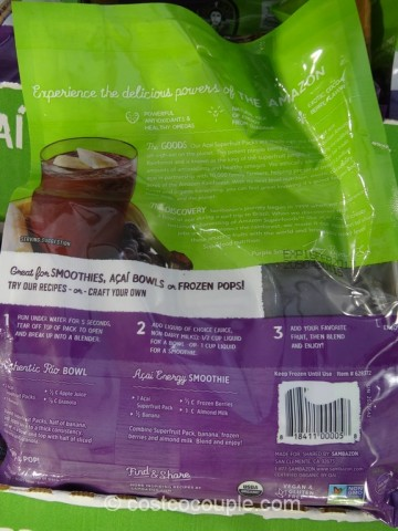 Sambazon Organic Acai Superfruit Costco 3