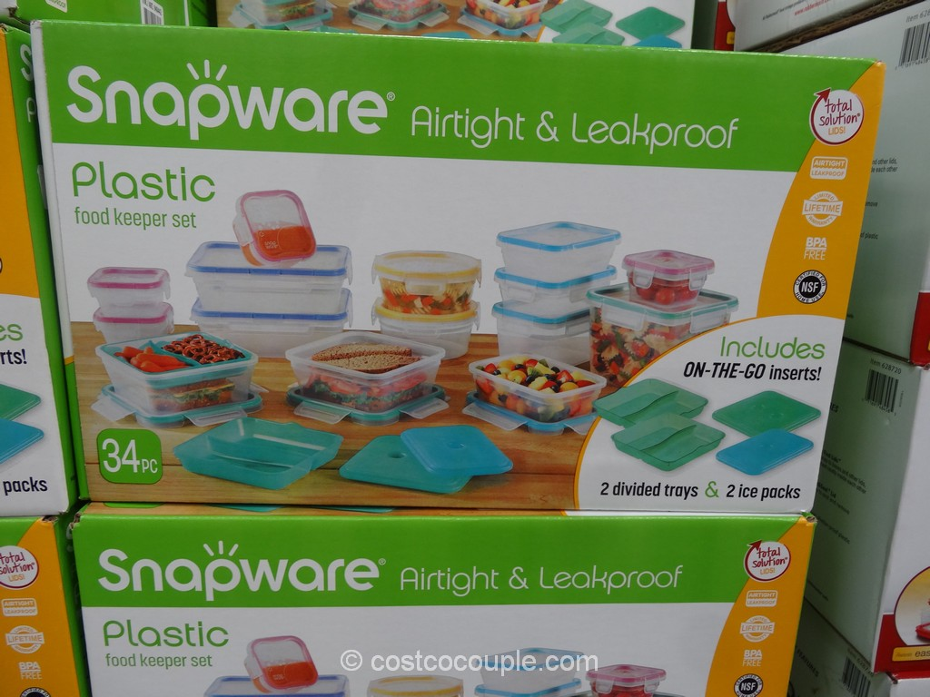 Snapware 34-Piece Plastic Food Keeper Set Costco 1