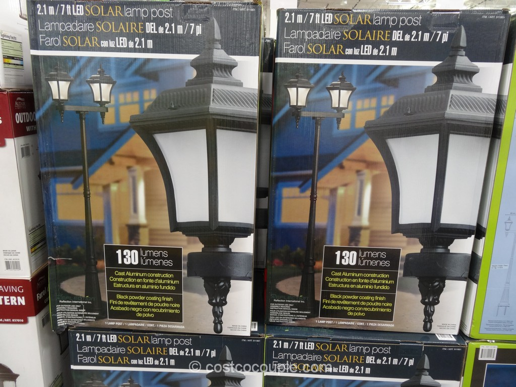 Solar LED Lamp Post Costco 1