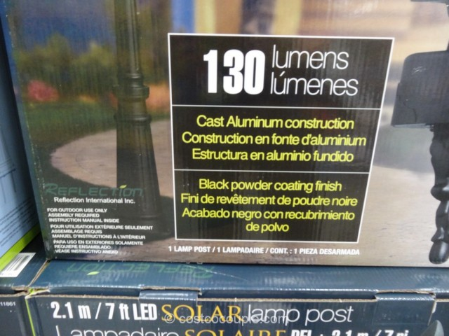 Solar LED Lamp Post Costco 2