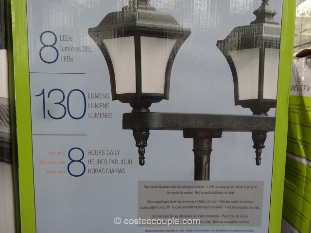 Solar LED Lamp Post Costco 6