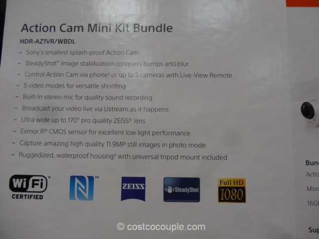 Sony Mini ActionCam Kit Costco 8