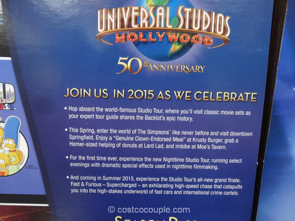 Universal Studios Hollywood 50th Anniversary Pass Costco 4